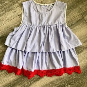 English Factory Baby doll top sz S